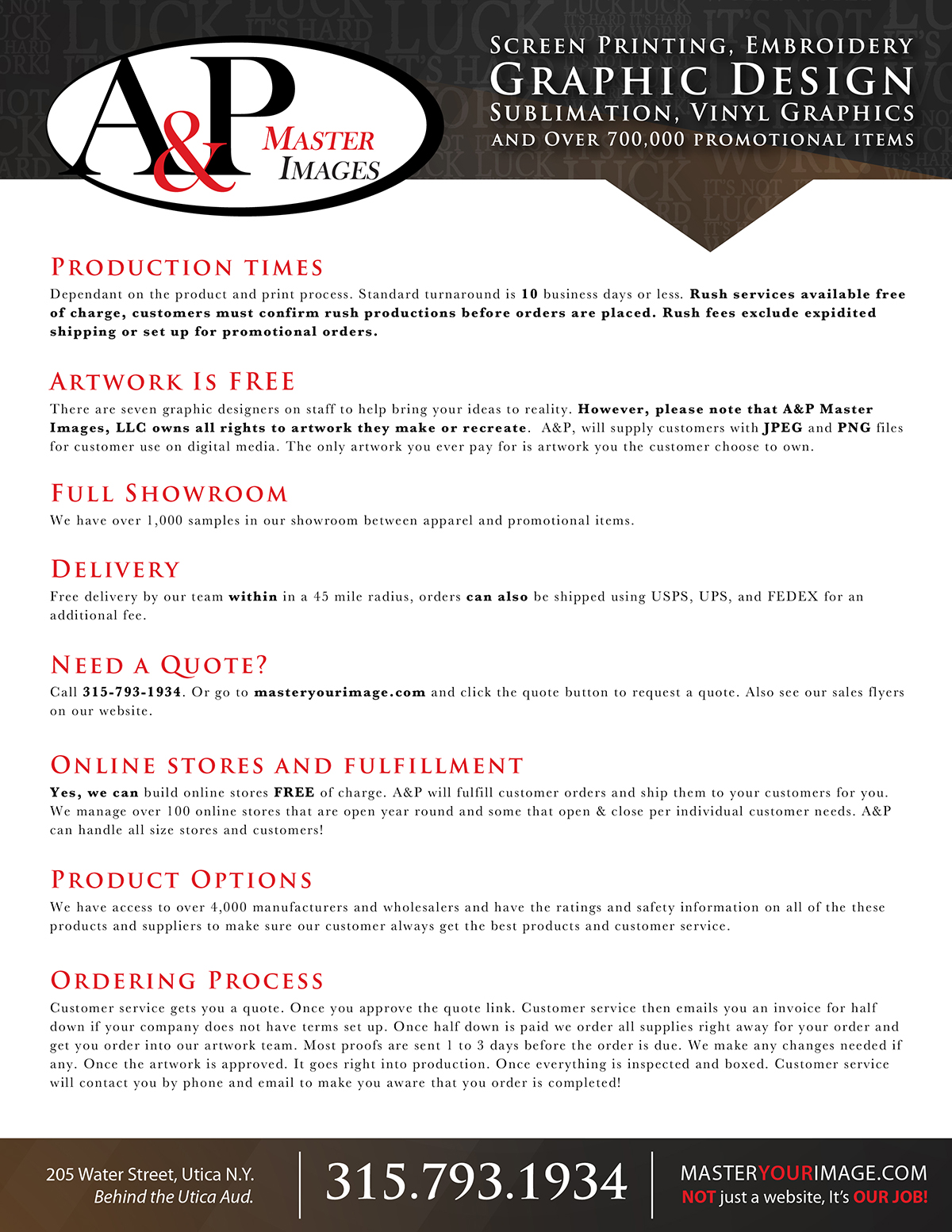 Sales Flyers - Information Sheet