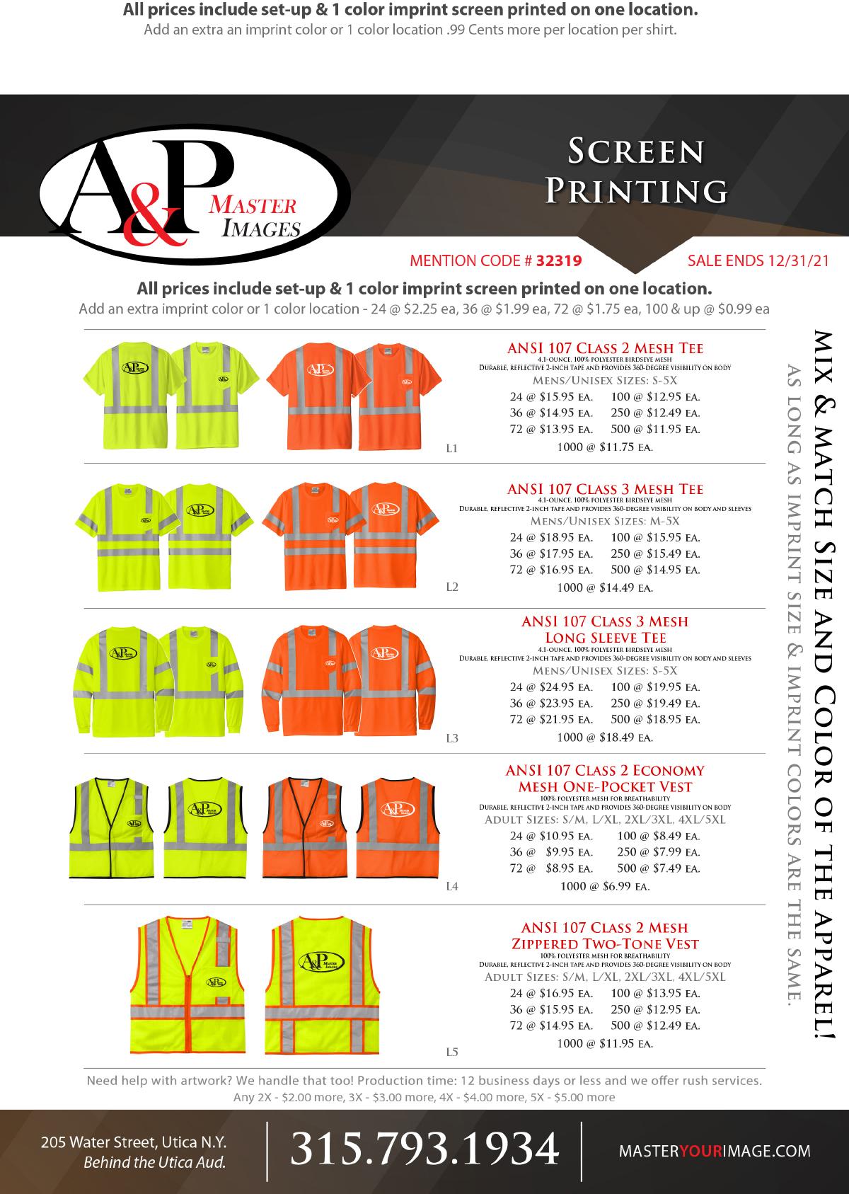 Sales Flyers - Screen Printing 11