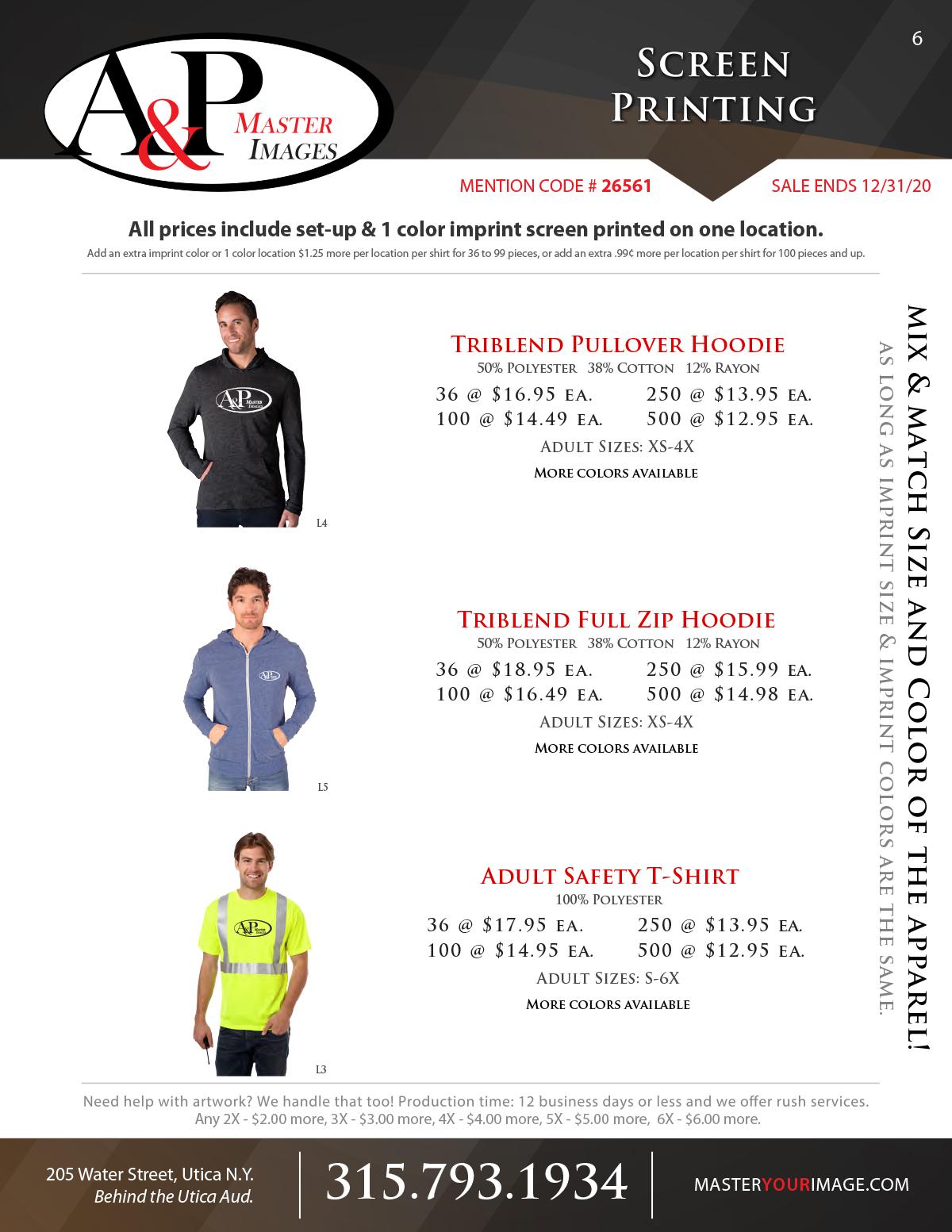 Sales Flyers - Screen Printing 06