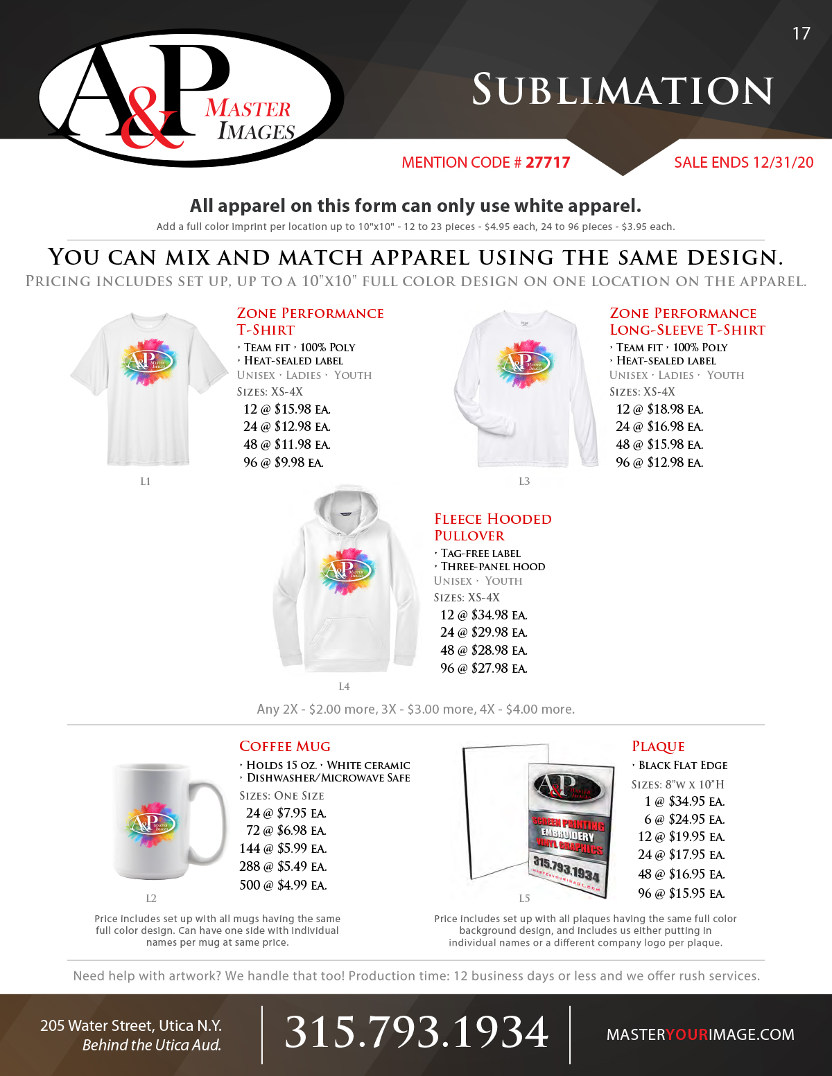 Sales Flyers - Sublimation
